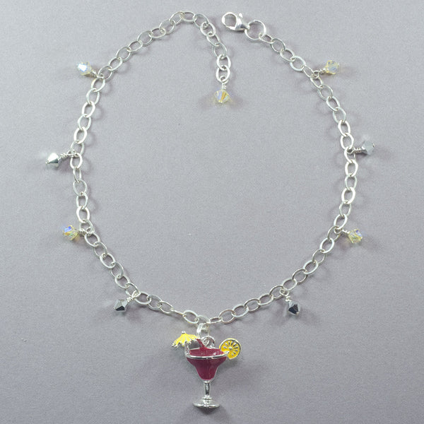 Andrea Rosenblume Cocktail and Crystal Anklet