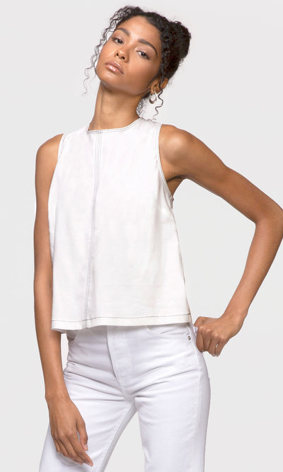 Marlee Contrast Thread Shell Top