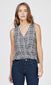 black and gray plaid print wrap top