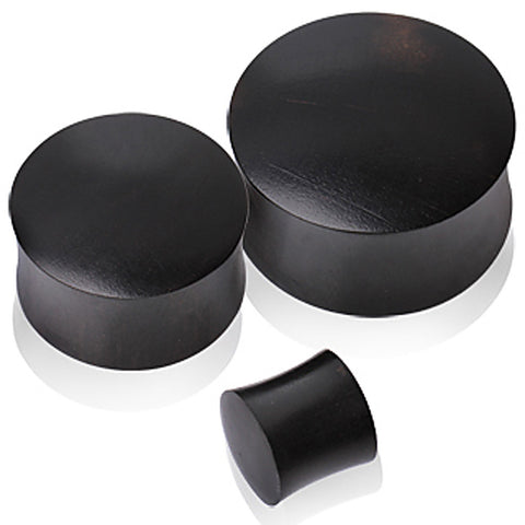 "Black Arang Wood Saddle Plug - 7/8"" - Sold as a Pair"