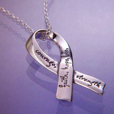 Affirmation Ribbon Necklace in Sterling Silver