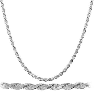 2mm Sterling Silver Rope Chains