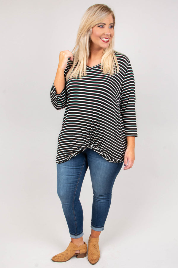 Chill With Me Top, Black
