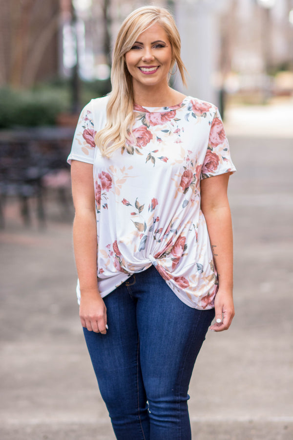 Finding Love Top, Ivory