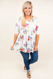 Super Bloom Tunic, White