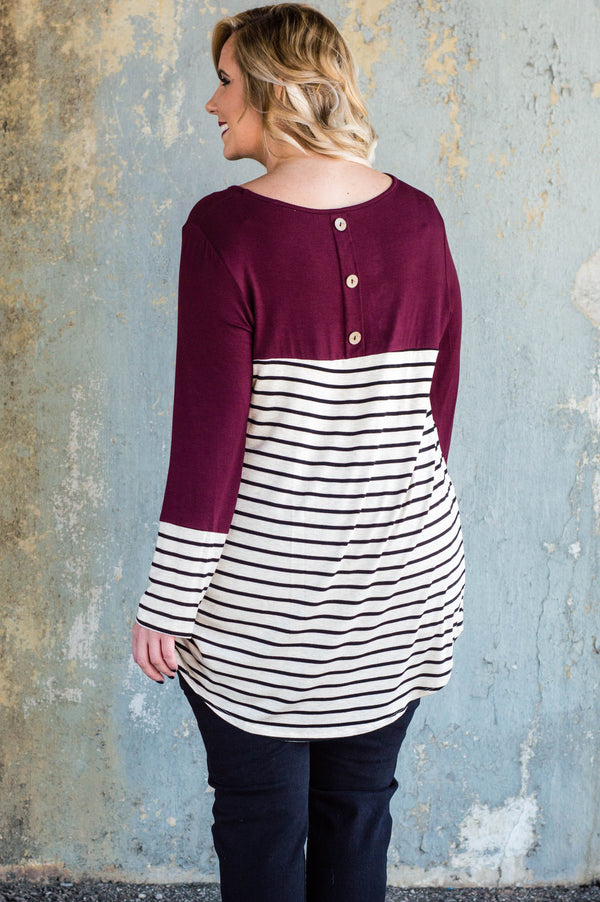 Change In The Weather Top, Burgundy
