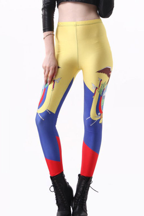 Leggings - Ecuador Flag Leggings - Epic Leggings