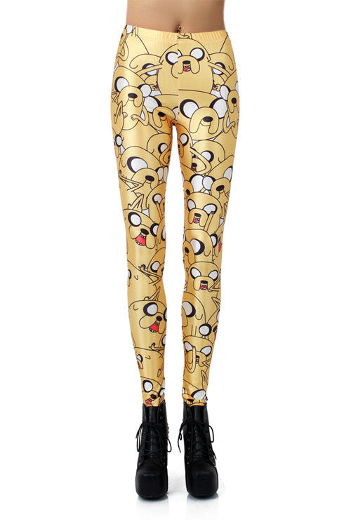 Leggings - Lovely Yellow Cartoon Leggings - Epic Leggings