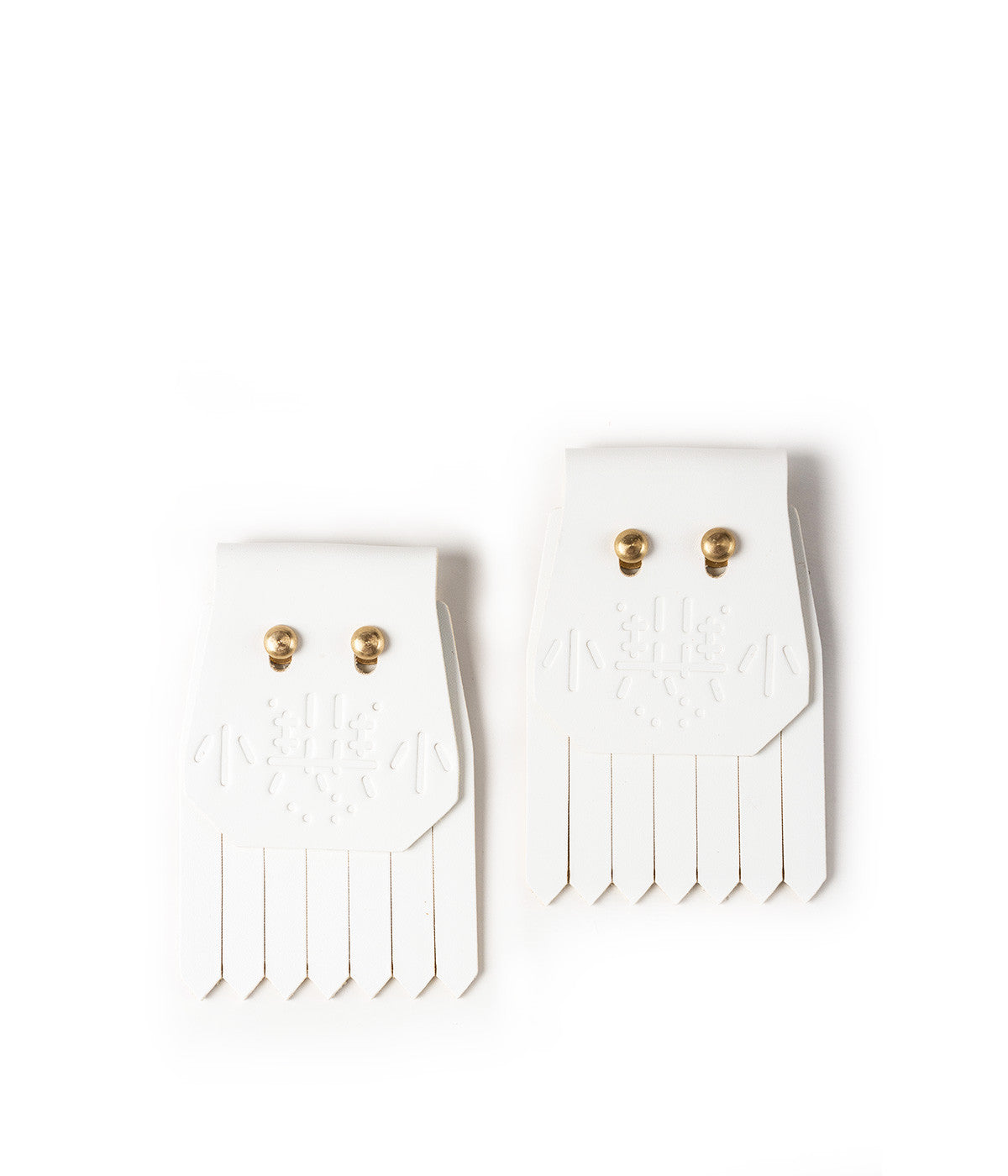 White Little Evil Shoe Fringes