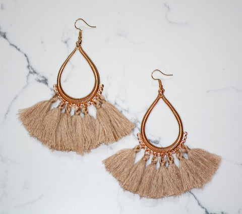 Shea Teardrop Tassel Earrings