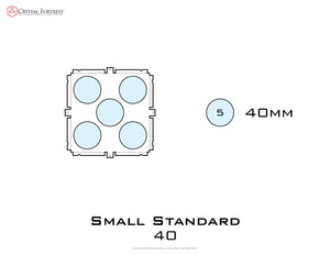Diagram of Small Standard 40mm acrylic display case base - small image
