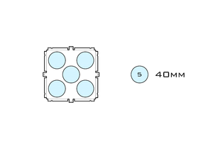 Diagram of Small Standard 40mm acrylic display case base