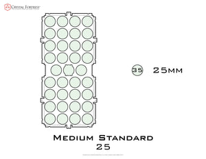 Diagram of Medium Standard 25mm acrylic display case base - small image