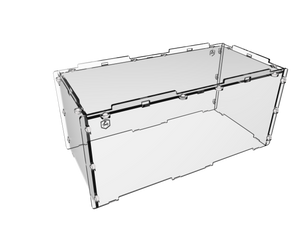 "4"" Acrylic display case cover for miniatures"