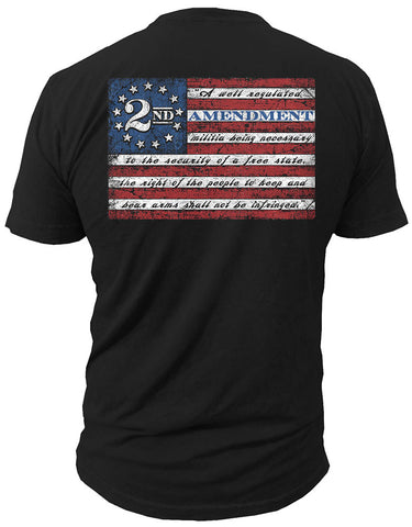 2ND AMENDMENT™ - 2ND AMENDMENT FLAG - T-SHIRT