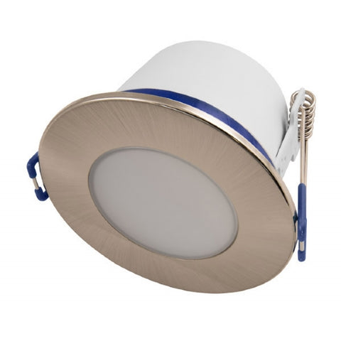 5.5W IP65 LED Fixed Dimmable Downlight - Satin Chrome Bezel