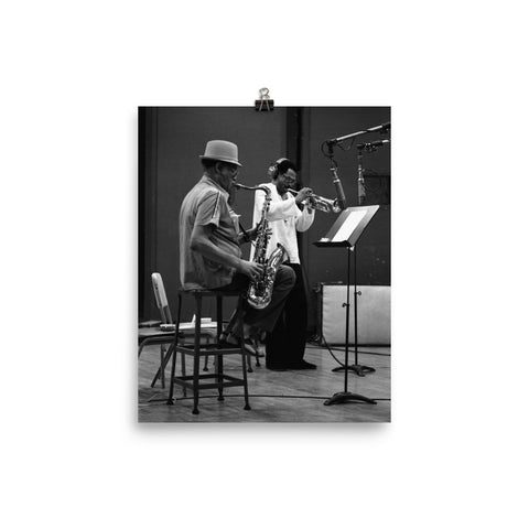 "Dexter Gordon & Woody Shaw Session Photo - ""Gotham City"" (Columbia Records 1978)"