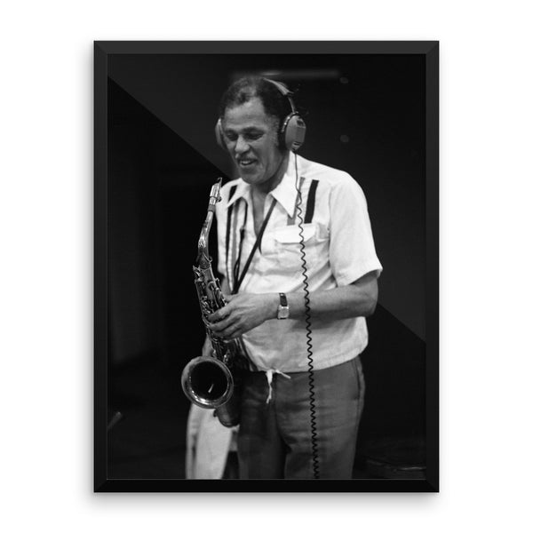 "Dexter Gordon Framed Session Photo - ""Gotham City"" (Columbia Records 1981)"