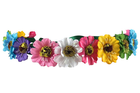 Light Up Rainbow Flower Crown