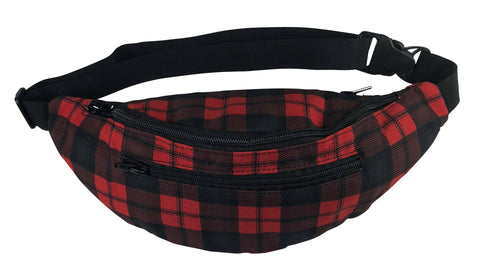 Red Checkered Rave Fanny Pack