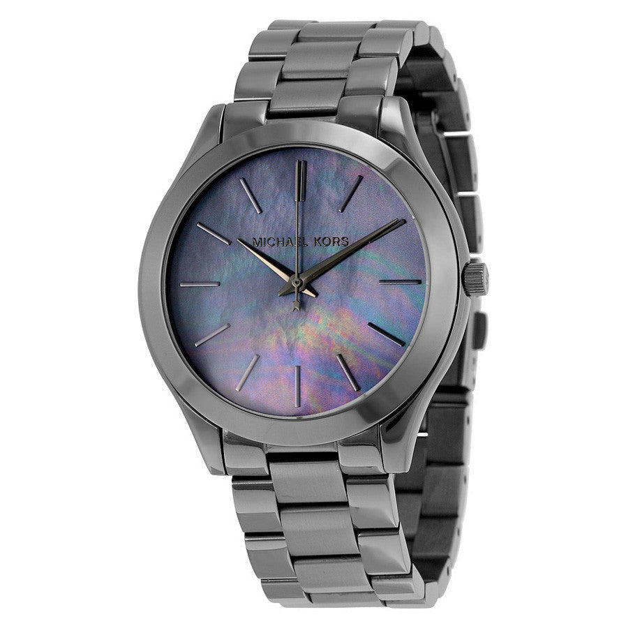 Slim Runway Grey Dial Gunmetal-plated Ladies Watch