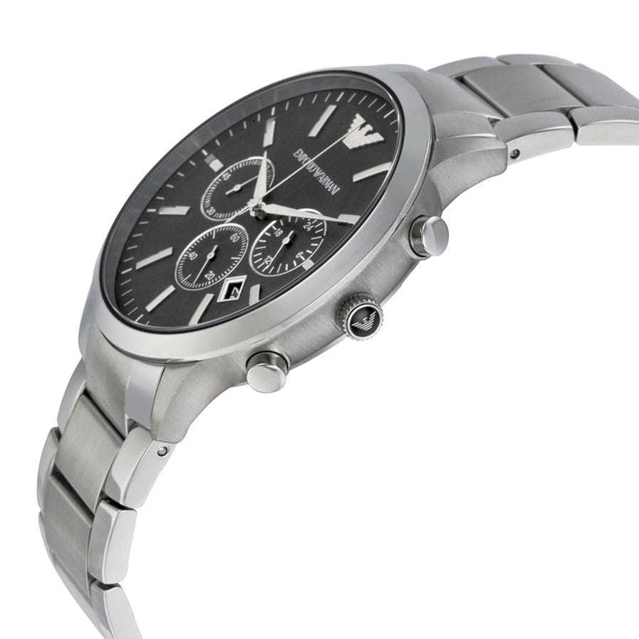 Sportivo Chronograph Black Dial Steel Men's Watch