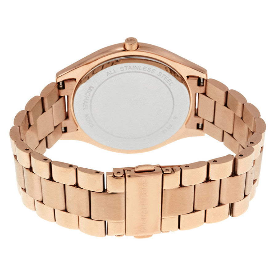 Runway Rose Dial Rose Gold-tone Ladies Watch