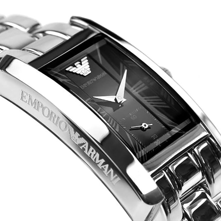 Classic Black Dial Stainless Steel Ladies' Watch