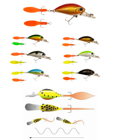 Innovative lures - SwimTail Wobler (45 + 55mm)