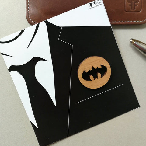 Batman Wooden Brooch - bigsmall.in