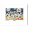 Afghan Cream Starry Night Matted Print