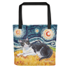 Tuxedo (shorthaired) STARRY NIGHT Tote