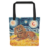 Cavalier King Charles (ruby) STARRY NIGHT Tote