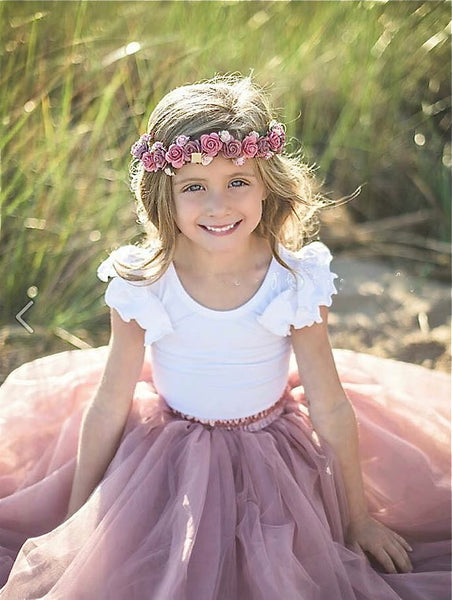 girls mauve tulle skirt