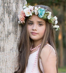 blush ivory flower crown