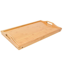Foldable Bamboo Breakfast Tray with Legs