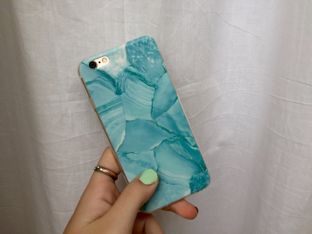 Green Marble iPhone Case - Rachel Michelle USA