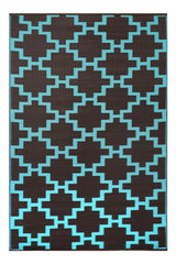 Solitude Chestnut and Aqua Sky Rug - greendecore.co.uk - 2