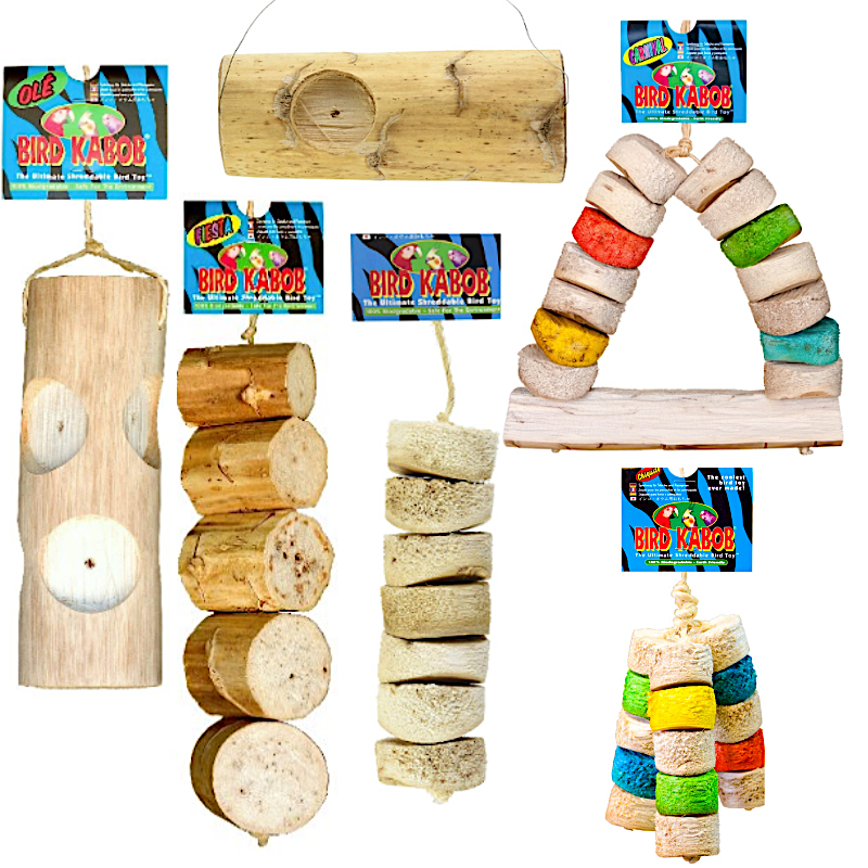 Premium All-Natural Parrot Toys (Bundle of 3) - BirdTricksStore