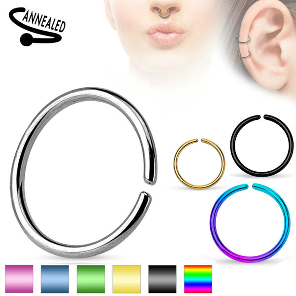 Annealed Seamless Segment Ring Septum, Daith, Nose