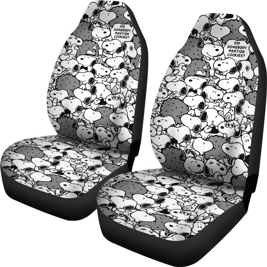 Snoopy - Car Seat Covers - (Set of 2)