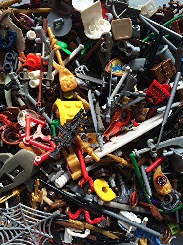 Authentic Lego Minifigure Parts Weapons Accessories (15 Lego Parts)