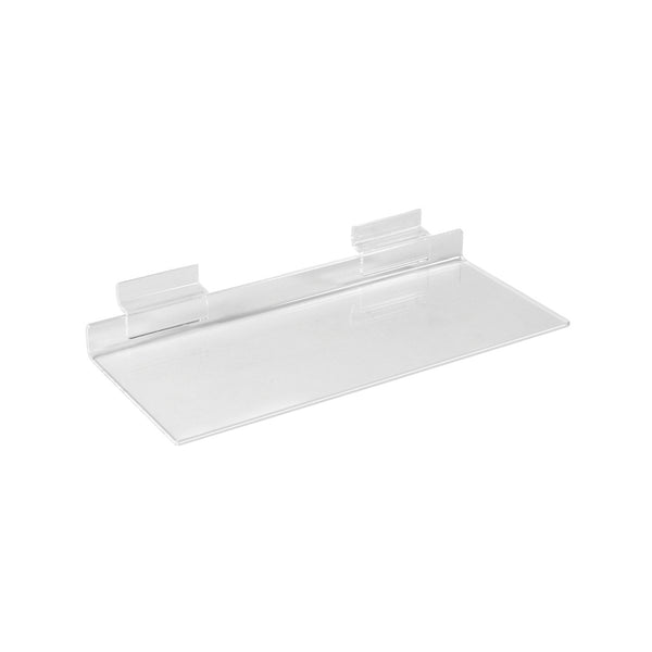 Slot System Acrylic Shelf  250 W X 100Mm D