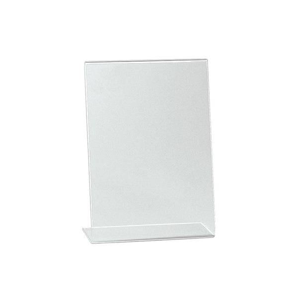 Angled Acrylic Sign Holder Single Sided Display A5 Portrait With 75Mm D Base