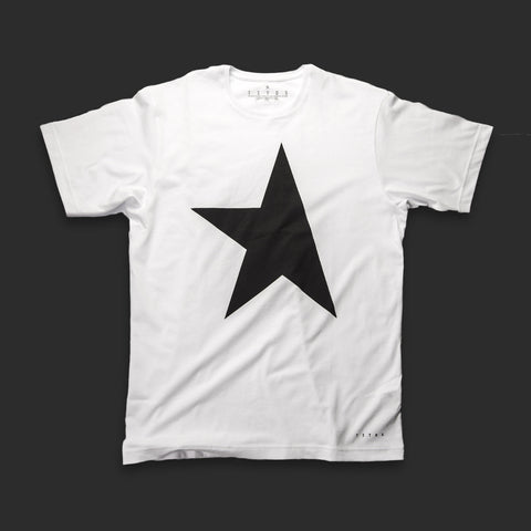 First T-shirt white/black TITOS star logo