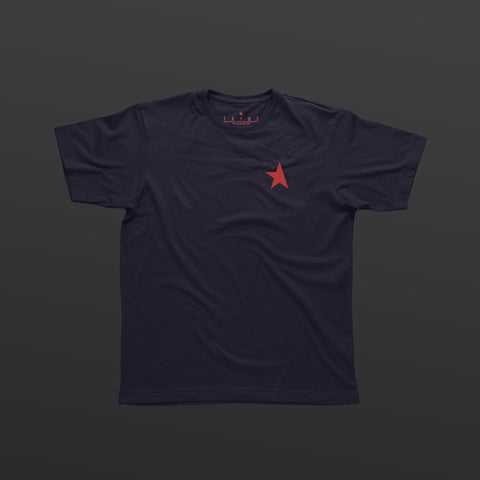 TITOS 17th t-shirt navy/red small star logo