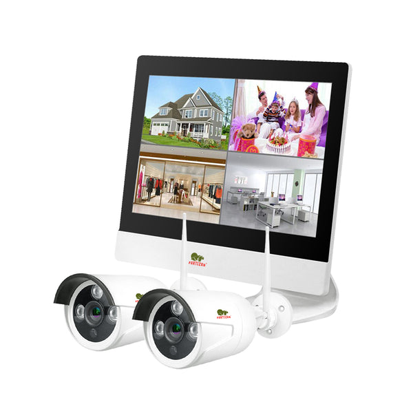 1.0MP Набор для улицы LCD Wi-Fi IP-23<br>2xCAM + 1xNVR