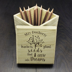 Teacher's Personalised Plant Seeds Cube Box - Luxe Gift Store