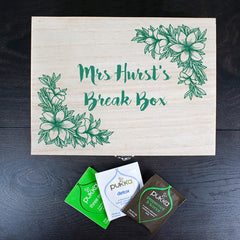 Teacher's Tea Break Box Personalised Floral Design - Luxe Gift Store - 1