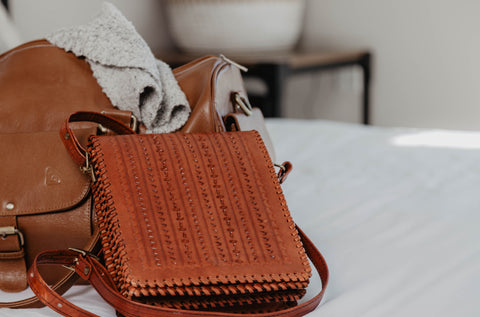 Wave Sunrise Leather Crossbody Bag